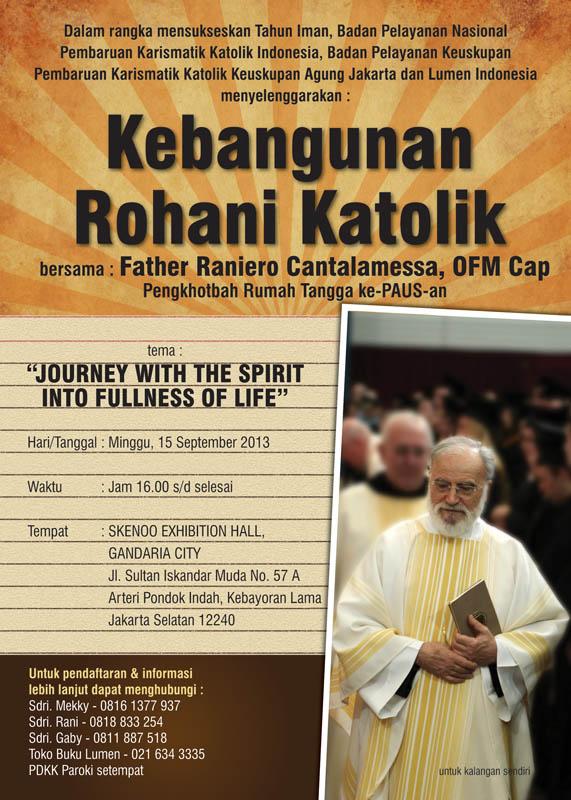 Kebangunan Rohani Katolik Bersama Father Raniero Cantalamessa OFM Cap